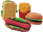 hamburger erasers