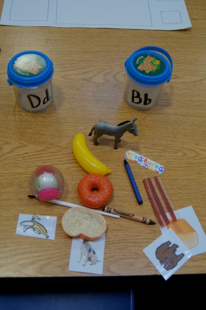 Is it very common for younger children to mix up the B and D sounds.  I had several objects that started with the two sounds and the kids had to sort the objects by the correct beginning sound.