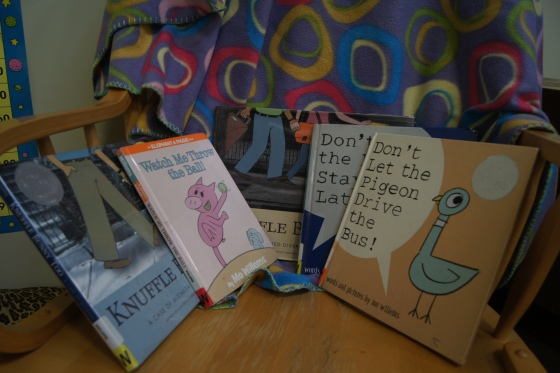 The books that we read for our Mo Willems Author Study