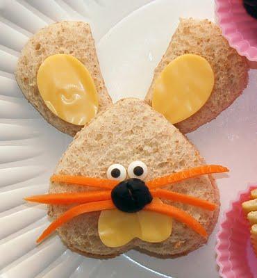 food bunny sandwich