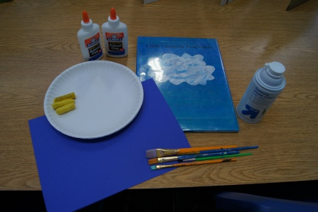 We also read The Little Cloud and talked about times that we have tried to find shapes and animals in the clouds.