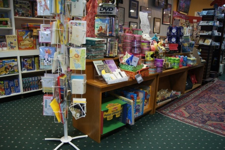 The fun extra sections filled with unique items such as character themed stuffed animals, cards, playing cards, magnetics, games for adults, and more...