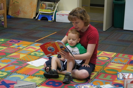 I love catching kids and parents reading!!