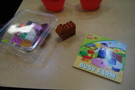 I had the Duplo farm addition (see my review here).  Basically the kids and parents read the story and follow the directions to complete different farm animals made out of the blocks.