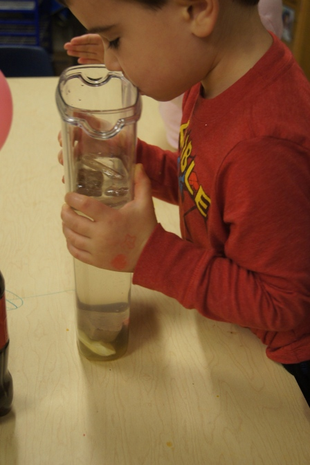 They all like the way that it smelled!  This was a great way to use another one of our senses!